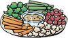 Tray of Veggie Snacks clipart