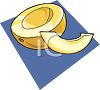 Casaba Melon Sliced clipart