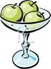 Green Apples in a Bowl clipart