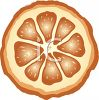 Slice of Orange  clipart
