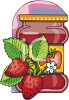 Strawberries and a Jar of Preserves clipart