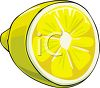 A Halved Lemon or Lime clipart