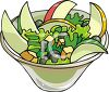 Cartoon Style Food-Salad clipart