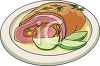 Cartoon Style Food-Fruit Stuffed Pork clipart