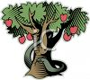 Serpent in an Apple Tree clipart