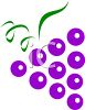 Grape Icon Logo Design clipart