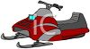Cartoon Snowmobile clipart
