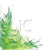Grass Corner Border for a Page Design clipart