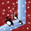 Penguins Skiing clipart
