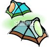 Camping Pup Tents clipart