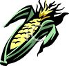 Cartoon Ear of Corn clipart