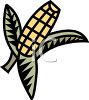 Ear of Corn Logo Element clipart
