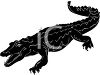 Silhouette of a Crocodile  clipart