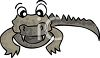 Cute Cartoon Crocodile clipart