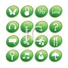 Web Buttons in Green clipart