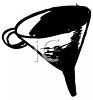Black and White Drawing of a Funnel clipart