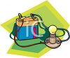 Science Experiment Using a Battery and Wires to Power a Bulb clipart