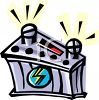 Cartoon of a Car Battery clipart
