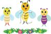 Cute Cartoon Bees clipart