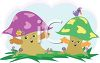 Cute Cartoon Mushrooms clipart