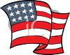 4th of July Cartoon of Wavy American Flag clipart
