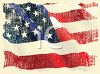 Old Glory Faded Flag Background clipart