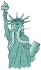 Cartoonish Statue of Liberty clipart