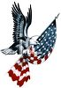 American Eagle Carrying a Folded Flag clipart