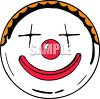 Happy clown face with a big smile clipart