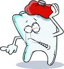 Toothache Cartoon Character clipart
