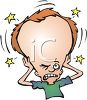 Person with a throbbing headache clipart