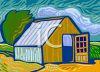 Barn on a Windy Night  clipart