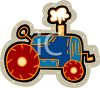 Steam Coming Out of a Tractor Pipe clipart