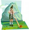 Bavarian Alp Horn Mountain Man clipart