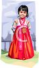 Asian Girl Wearing Traditional Dress clipart