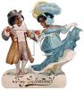 Victorian African American Couple Valentine clipart
