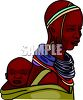 African Mother and Her Baby clipart