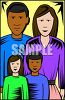 Innerracial Family clipart