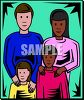 Mulit-Racial Family clipart