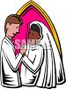 Black Woman Marrying a Caucasian Man clipart