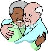 Interracial Grandparents clipart