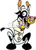 Cartoon Metaphor for Mad Cow Disease clipart