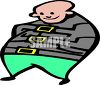 Fat Man in a Straight Jacket clipart