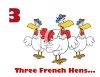 Cartoon of Three French Hens clipart