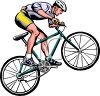 Cyclist Doing a Wheelie clipart