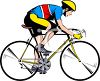 Cyclist in Training clipart