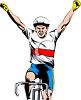 Cyclist Winning a Race clipart