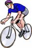 Cyclist in a Bike Race clipart