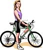 Young Sexy Woman Riding a Bike clipart