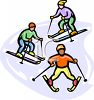 People on Skis clipart